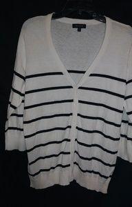 The Limited Thin Black White Cardigan Sz XXL Plus